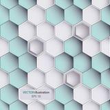 Hexagondesignhintergrund Stockbild