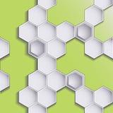 Hexagondesignhintergrund Lizenzfreies Stockfoto