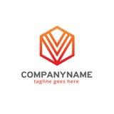 Hexagone abstrait Logo Template Design Vector, emblème, concept de construction, symbole créatif, icône Image libre de droits
