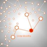 Hexagone abstrait pour le réseau mobile Images stock