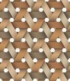 Hexagone Birchbark编篮艺品 免版税库存照片