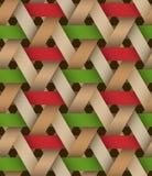 Hexagone Birchbark Basketwork. Royalty Free Stock Photography