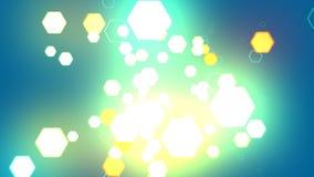 Hexagone de fond abstrait Photographie stock libre de droits