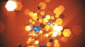 Hexagone de fond orange Images stock