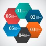 Hexagone de papier abstrait de forme de cercle basé Photos libres de droits