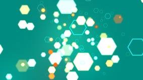 Hexagone de turquoise abstraite Photos stock