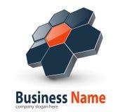 Hexagone des Zeichens 3d Lizenzfreies Stockbild