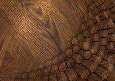 Hexagone en bois Photo libre de droits