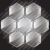 Hexagone en verre comme nid d'abeilles ou fleur Fond d'illustration de vecteur Image libre de droits