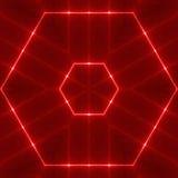 Hexagone ondulé rouge Images stock