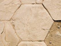Hexagone romain de groupe de ruines Images libres de droits
