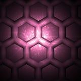 Hexagone rose illustration libre de droits