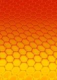 Hexagone rouge Image libre de droits