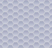 Hexagone seamless blue Stock Image