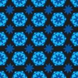 Hexagones bleus lumineux de fond sans couture avec des couleurs et des formes géométriques illustration stock