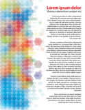 Hexagones colorés Images libres de droits
