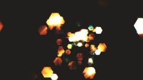 Hexagones de fond foncé Photographie stock