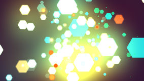 Hexagones de résumé Image libre de droits
