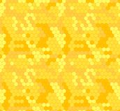 Hexagones de vecteur Honey Background, jaune et orange, rucher illustration libre de droits