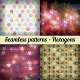 hexagones Ensemble de configurations sans joint Résumé Images libres de droits