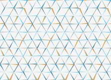 Hexagones et modèle sans couture de triangles Vecteur Abstra géométrique illustration libre de droits