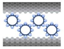 Hexagones et trains Image libre de droits