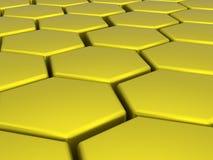 Hexagones jaune-orange Image stock