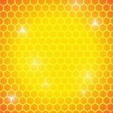 Hexagones sur le fond jaune et orange illustration de vecteur