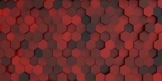 Hexagonhintergrund Lizenzfreie Stockfotografie