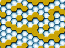 Hexagonhintergrund Stockbild