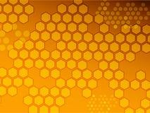 Hexagonhintergrund stock abbildung