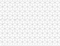 Hexagonmusterhintergrund in der grauen Farbe und in der Linie Kunstschwarzweiss-Design; Modernes grafisches Dekorationselement Stockfoto