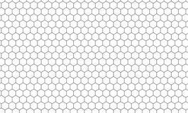 Hexagonnettobienenwabenmuster-Vektorhintergrund lizenzfreie abbildung