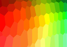 Hexagono Background with degrade red to green. Illustration of Hexagono Background with degrade red to green in vector Stock Image