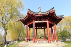 Hexagonpavillon von datang furong Garten, luftgetrockneter Ziegelstein rgb Lizenzfreies Stockbild