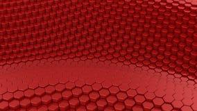 Hexagons διαμόρφωσαν ένα κύμα απόθεμα βίντεο