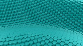 Hexagons διαμόρφωσαν ένα κύμα φιλμ μικρού μήκους