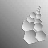 Hexagons αφηρημένο σχέδιο υποβάθρου Στοκ Φωτογραφία