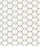Hexagons γκρίζο διανυσματικό απλό άνευ ραφής σχέδιο Στοκ Εικόνες