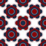 Hexagons και λουλουδιών σχέδιο διανυσματική απεικόνιση
