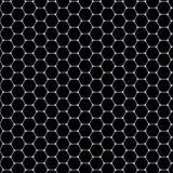 Hexagons σχέδιο - άσπρο χαλί στο μαύρο υπόβαθρο Στοκ φωτογραφία με δικαίωμα ελεύθερης χρήσης