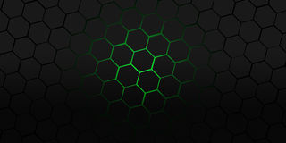 Hexagons της Νίκαιας μαύρη και πράσινη σύγχρονη απεικόνιση υποβάθρου Στοκ φωτογραφίες με δικαίωμα ελεύθερης χρήσης