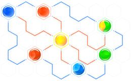 hexagons δεσμών σχέδιο Στοκ Φωτογραφία