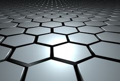 Hexagons. Pattern of 3d hexagons Stock Photography