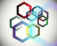 Hexagons background Stock Images
