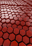 Hexagons background Stock Image
