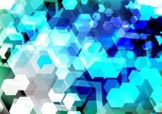 Hexagons background Stock Photos