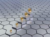 Hexagons background Stock Photos