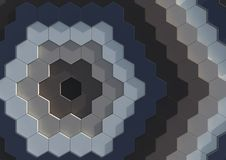 Hexagons background. Abstract textured  background pattern composed of an array of hexagons of various colors Royalty Free Stock Photography