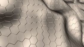 Hexagons background Royalty Free Stock Photos